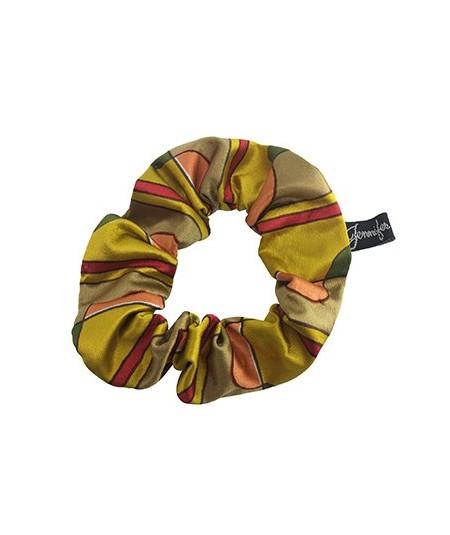Gold Deco Silk Scrunchies
