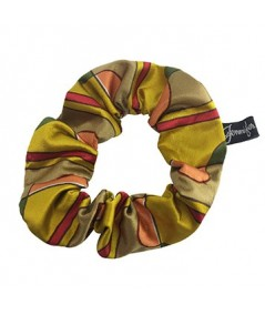 Gold Deco Silk Scrunchies
