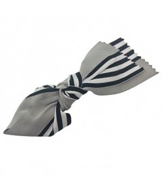 Grey Grosgrain Stripe Barrette