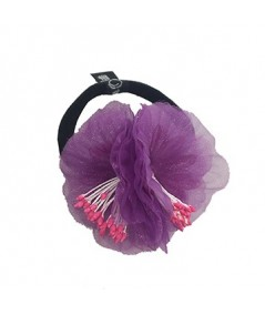 Purple Flower Ponytail Holder by Jennifer Ouellette
