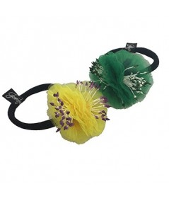 Yellow and Green Flower Ponytail Holder by Jennifer Ouellette