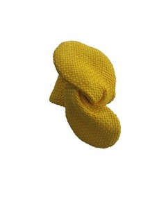 Yellow Raffia Wire Ponytail Holder