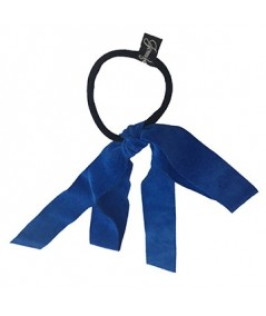 Royal Blue Suede Large Bow Pony