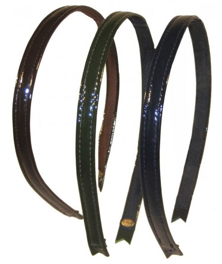 Patent Leather Headband -Brown-Olive-Cobalt