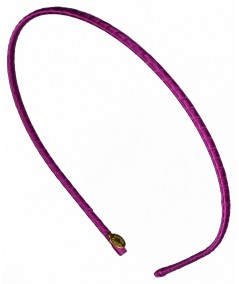 Basic super skinny satin headband Crazy Purple