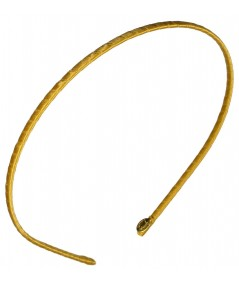 Basic super skinny satin headband Yellow Gold