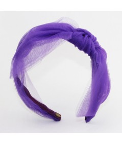 Crazy Purple Large Tulle Side Bow Headband