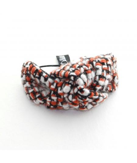 Pumpkin Pie Boucle Tweed Knot Pony and Bracelet