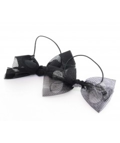 Tulle with Big Polka Dots Elastic Ponytail
