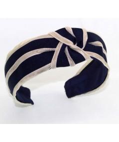 GV10 Black with Beige headband turban
