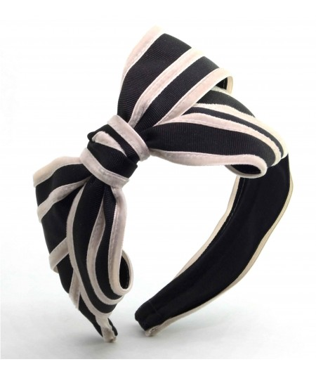 GV11 Black with Beige headband bow