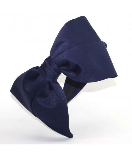 ST184 Navy headband bow