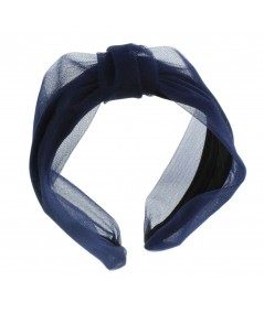 Navy headband turban