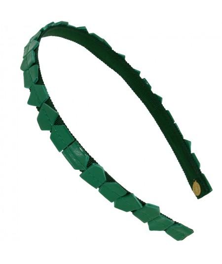 recycled-mosaic-patent-leather-skinny-headband