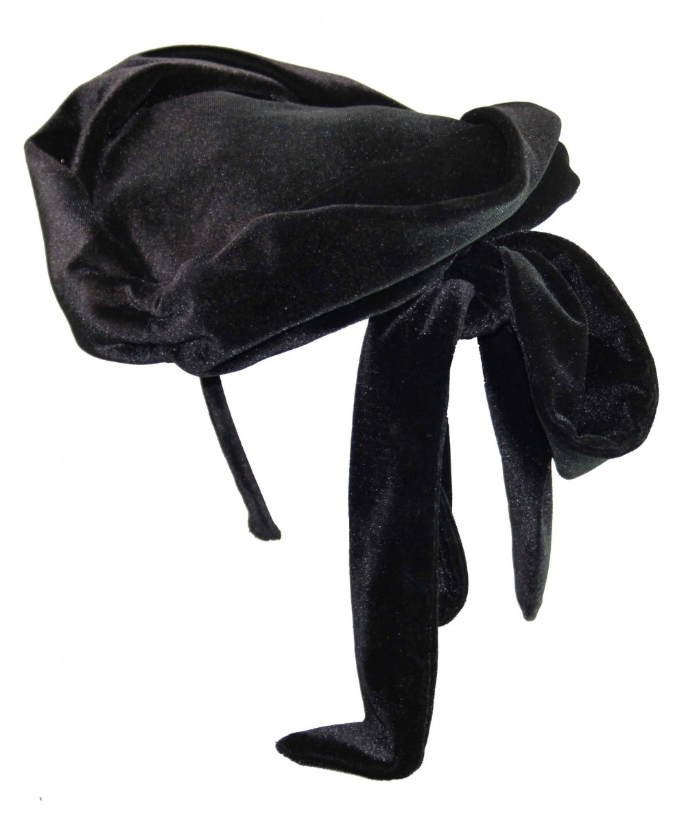 HT636 black velvet fascinator hat hi res