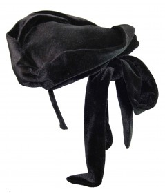 black velvet fascinator hat hi res