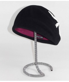HT685 Black Beret with Ivory Birds