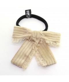 PY739 Beige ponytail holder hair elastic