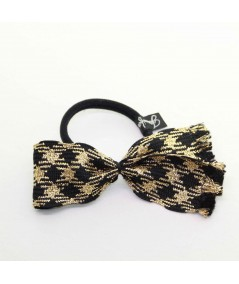 PY741 Black Gold ponytail holder hair elastic