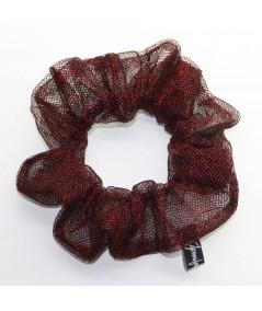 PY747 Red Metallic scrunchie hair tie