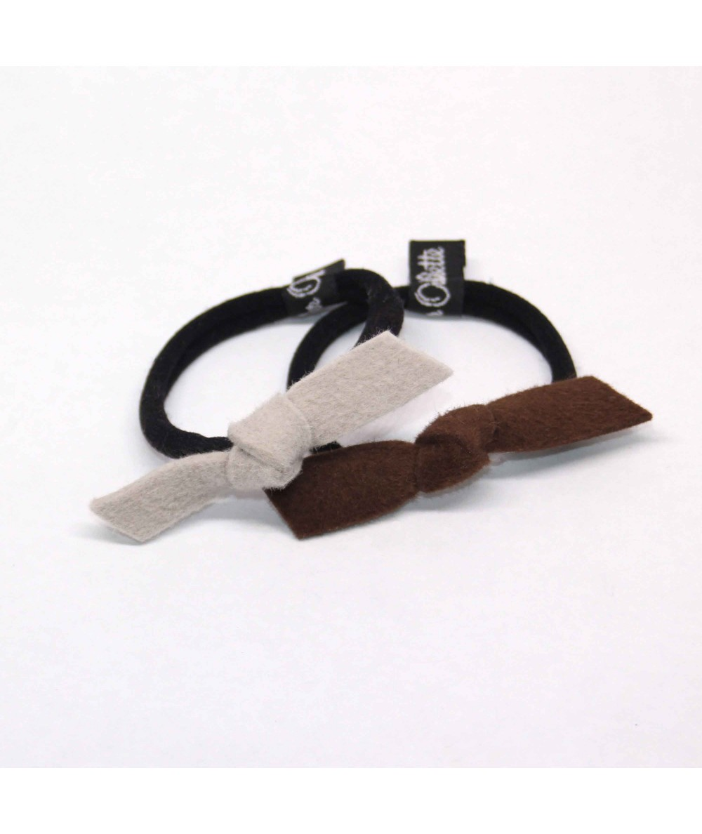 PY749 Alabaster and Brandy hair elastic ponytail holder