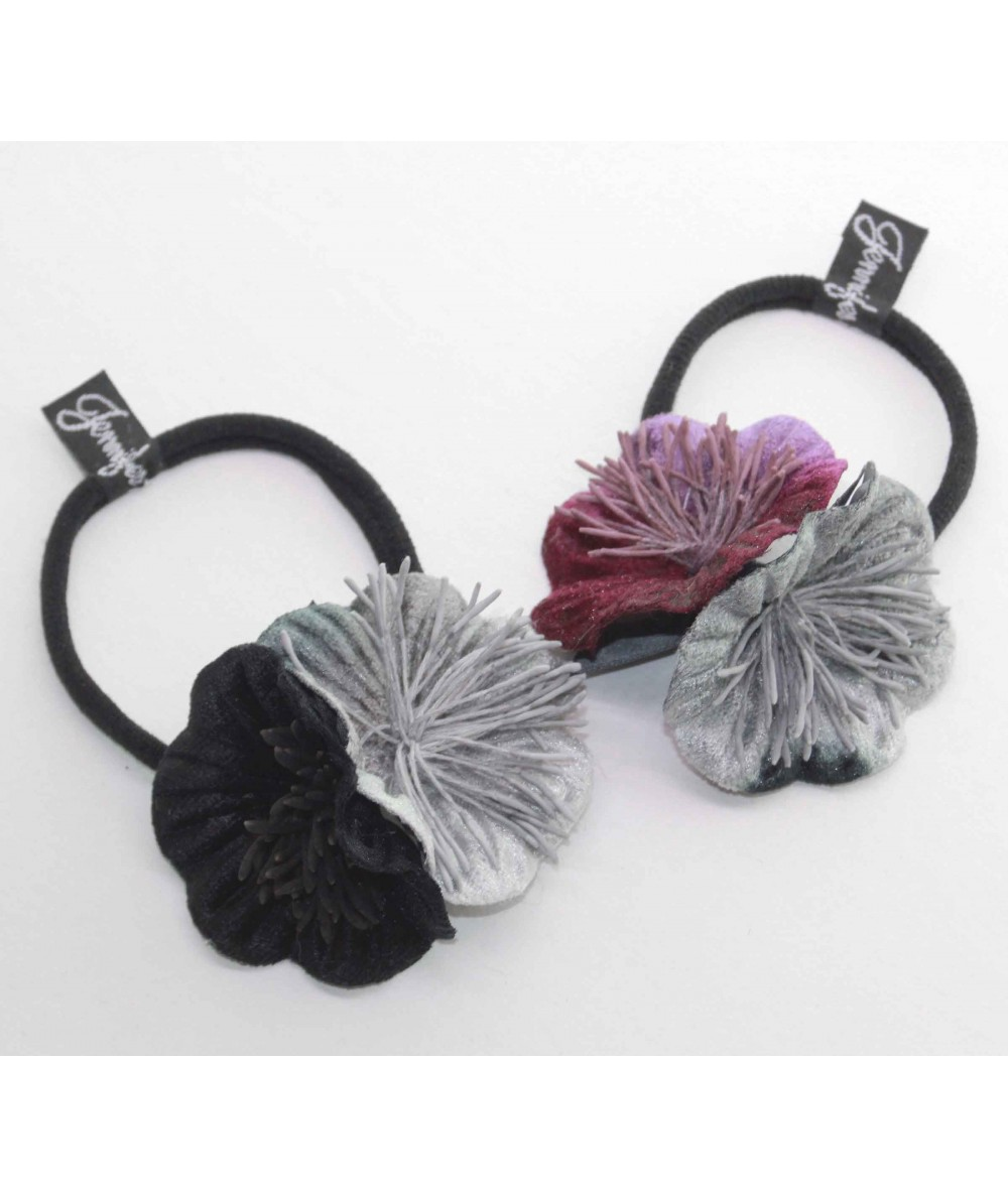 PY753 flower vintage style hair elastic ponytail holder