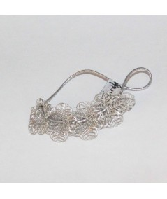 PY759 Silver hair accessory ponytail 1