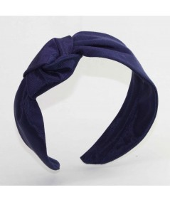 Navy Side Turban Headband