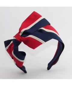 Red White Blue Grosgrain and velvet Bow Headband