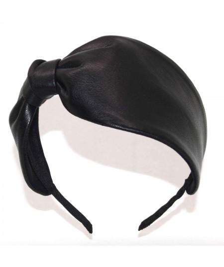 L26 Black View 2 headband leather
