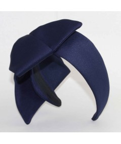ST184 Navy headband bow