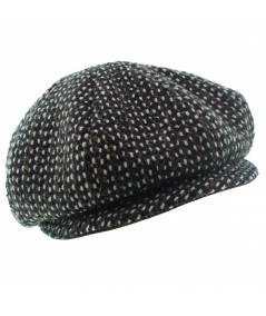 Wool Boucle Newsboy Cap Hat