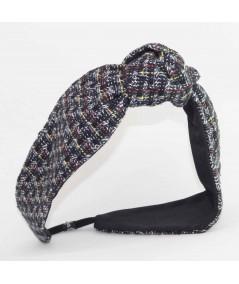 TW71 Navy Multi headband turban