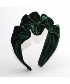 VV43 Bottle Green headband ruffle turban