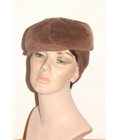CDH1 Brown Tabac Cap with Ear Warmer Cordury