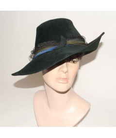 HT683 Fedora Northern Lights Hat with tulle