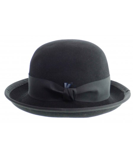 HT6391 mens black bowler hat