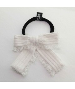 PY739 Ivory ponytail holder hair elastic