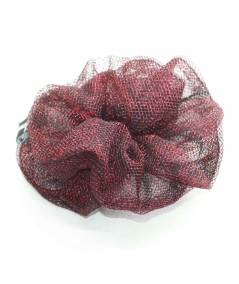 PY747 Red Metallic scrunchie for hair