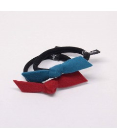 PY749 Petrol and Ruby Red hair elastic ponytail holder