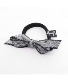 PY751 Silver metallic hair elastic ponytail holder