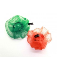 PY758 Kelly Orange ponytail holder hair elastic scrunchie