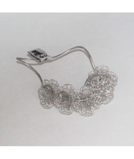PY759 Silver hair accessory ponytail 2