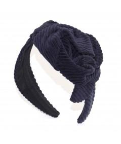 Navy Headband Corduroy