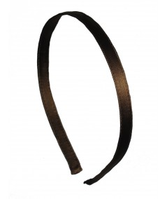 Brown Satin Narrow Headband