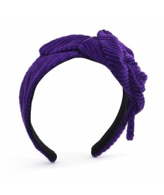 Purple Headband Corduroy