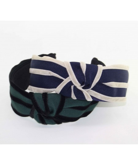 Hunter Green with Black and Navy with Black Turban Headband