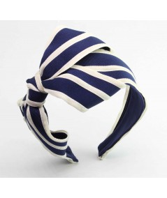 Navy with Eggshell Bow Headband