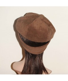 CDH1 Brown Tabac Cap with Ear Warmer Band