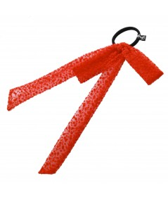 PY738 Red ponytail holder hair elastic